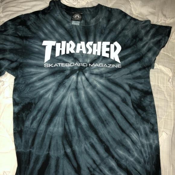 c670392b4da4 Thrasher Tops | Skateboard Magazine Tie Dye Tshirt | Poshmark